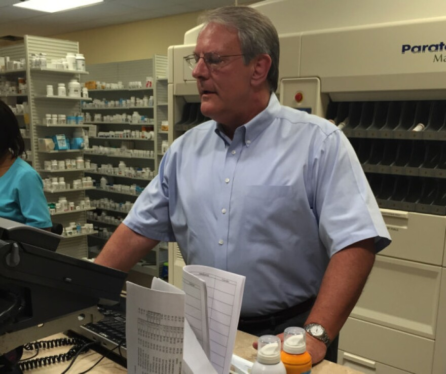 Bill Napier, owner of Panama Pharmacy in Jacksonville, Florida.