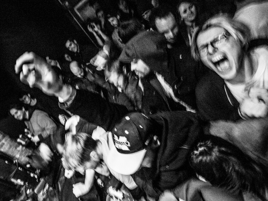 A rowdy and lively crowd during a Pile show at Great Scott in 2015.