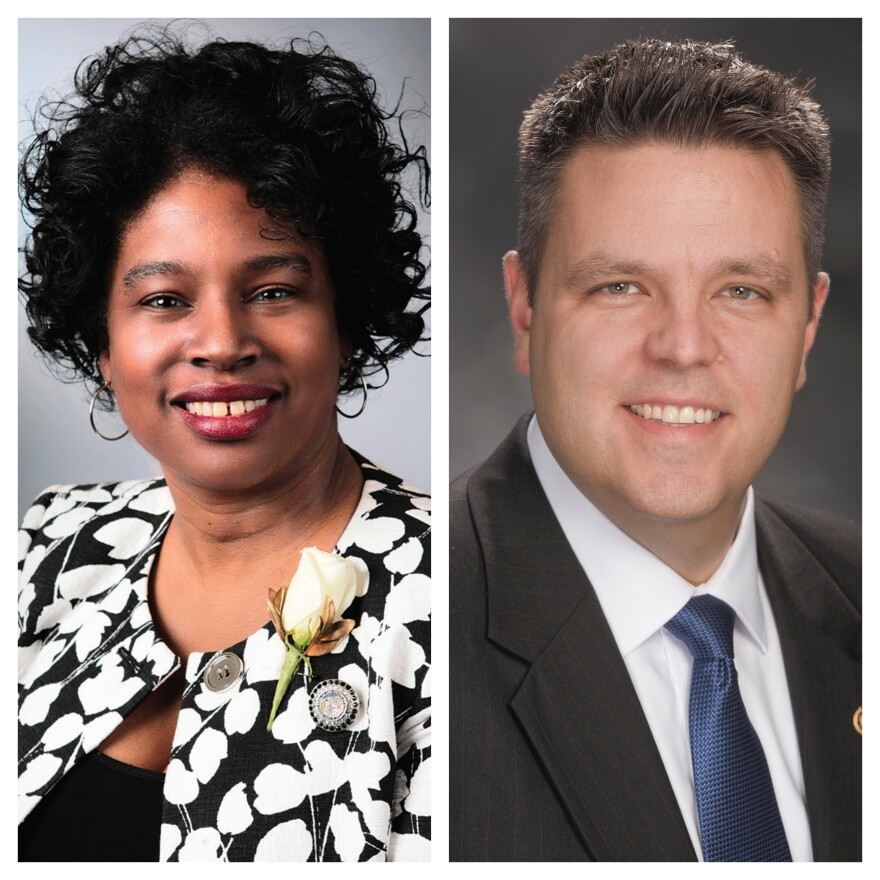 Sen. Karla May (D-St. Louis) and Rep. Justin Hill (R-Lake St. Louis) joined St. Louis on the Air on Oct. 31, 2019.