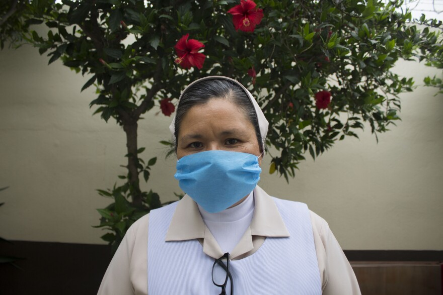 Sister Catalina helped a migrant mother and her newborn daughter.