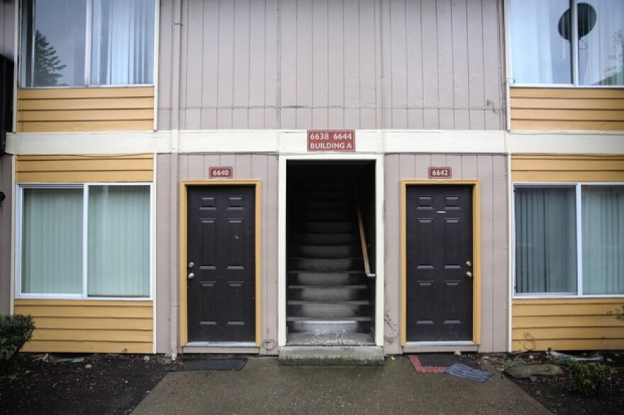 <p>The Normandy Apartments. Families living in the 18 units recently received notice their rents will double on April 1.</p>