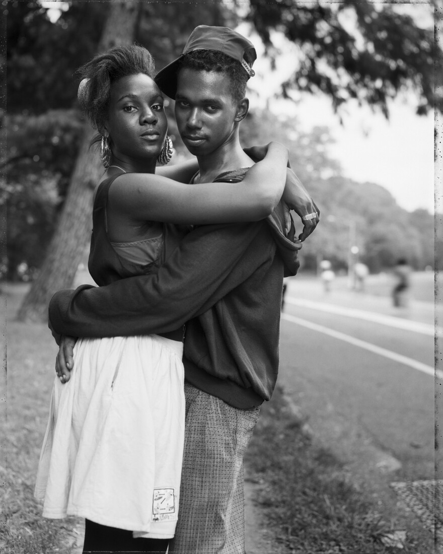 <em>A Couple in Prospect Park, Brooklyn, NY,</em> 1990, courtesy the artist and Sean Kelly Gallery, Stephen Daiter Gallery, and Rena BranstenGallery.