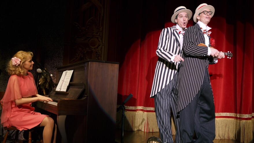 Nellie McKay, David Shiner and Bill Irwin use old-time comedy, newfangled tricks and zany music to score laughs in their new theatrical revue, <em>Old Hats</em>.