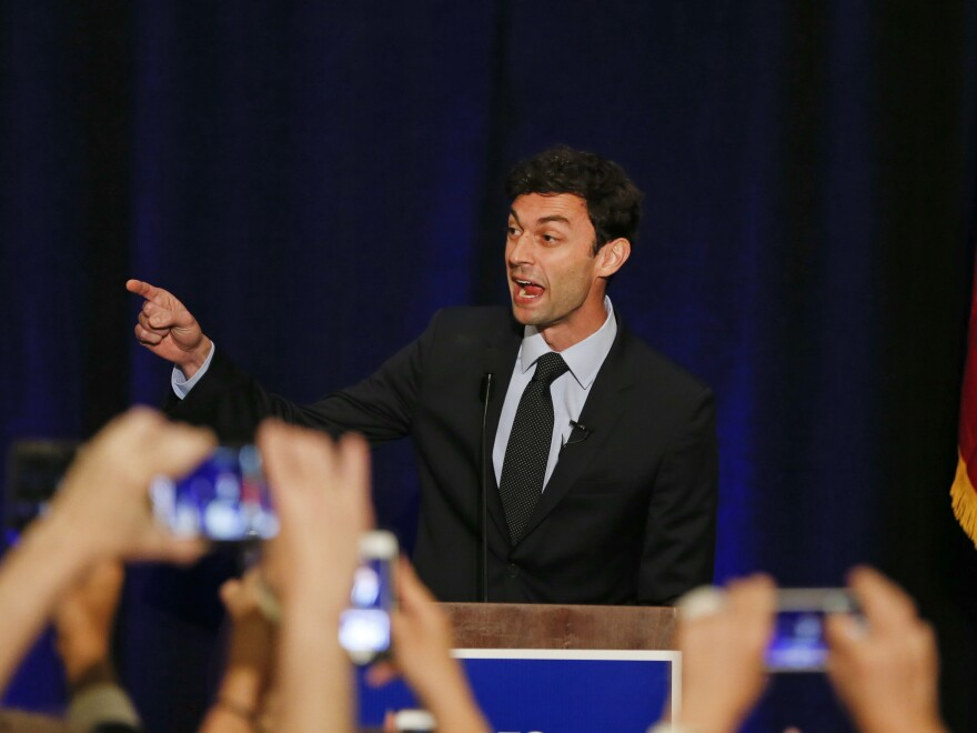 """Jon Ossoff, seen here in 2017, has criticized an ad by his Republican rival, David Perdue, as """"unbecoming of a sitting U.S. senator."""""""