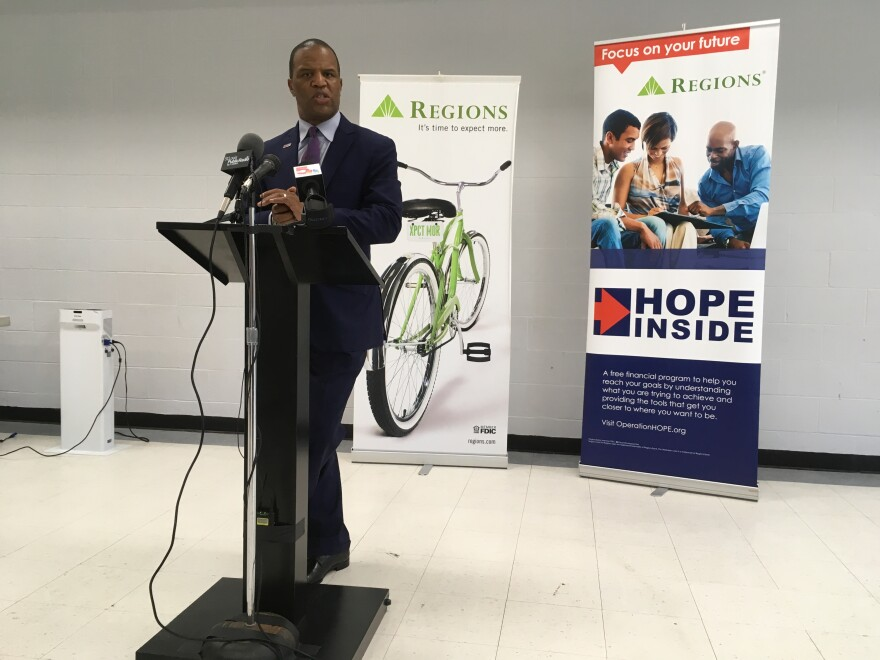 John Hope Bryant 072618 Operation Hope Finacial literacy offices in Regions Bank
