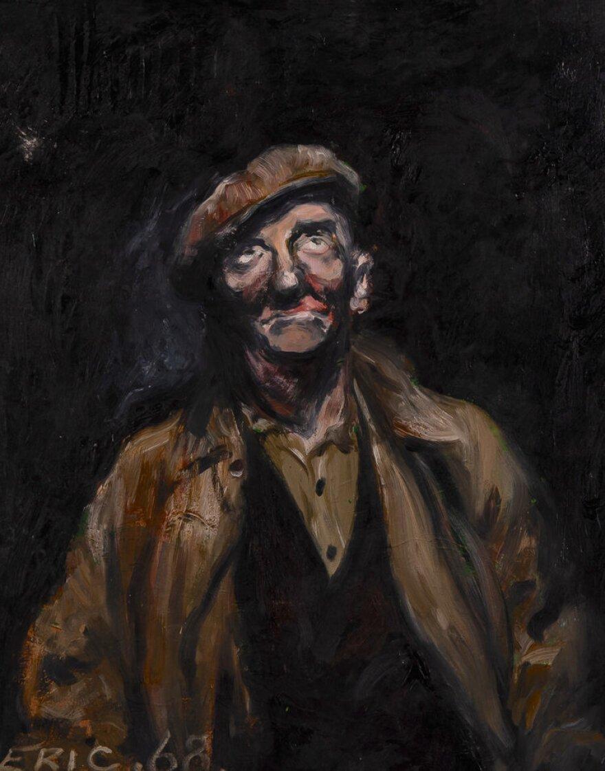 Portrait of a coal miner.