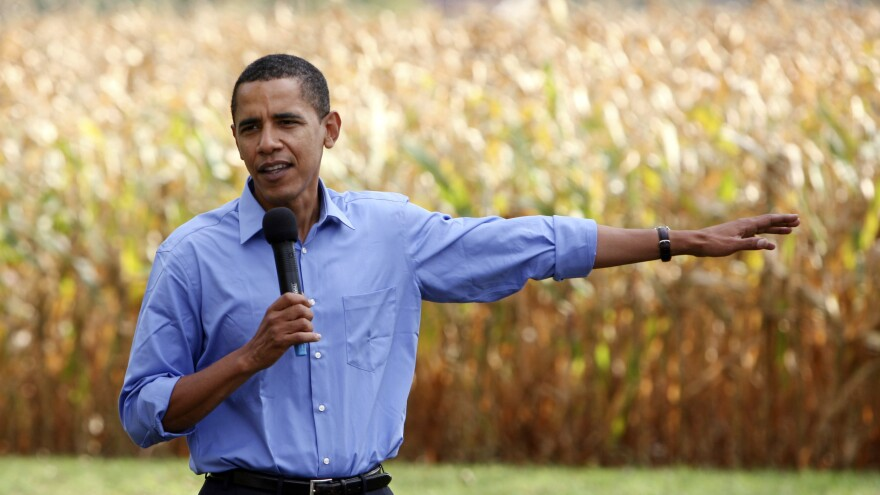 Barack Obama campaigns in Iowa in October 2007. Iowa was an important launching pad for Obama that helped him win the Democratic nomination in 2008.