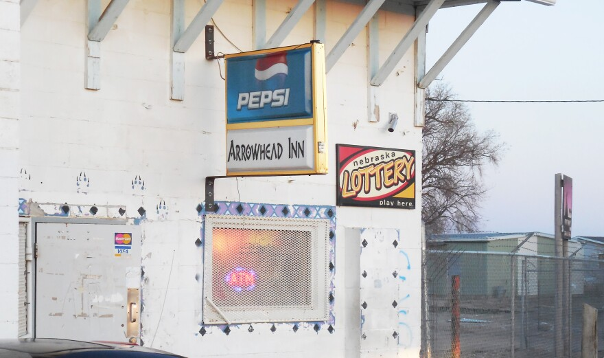 The Arrowhead Inn is one of four Whiteclay, Neb., stores that sell 4 million cans of beer annually. The stores are currently up for sale.