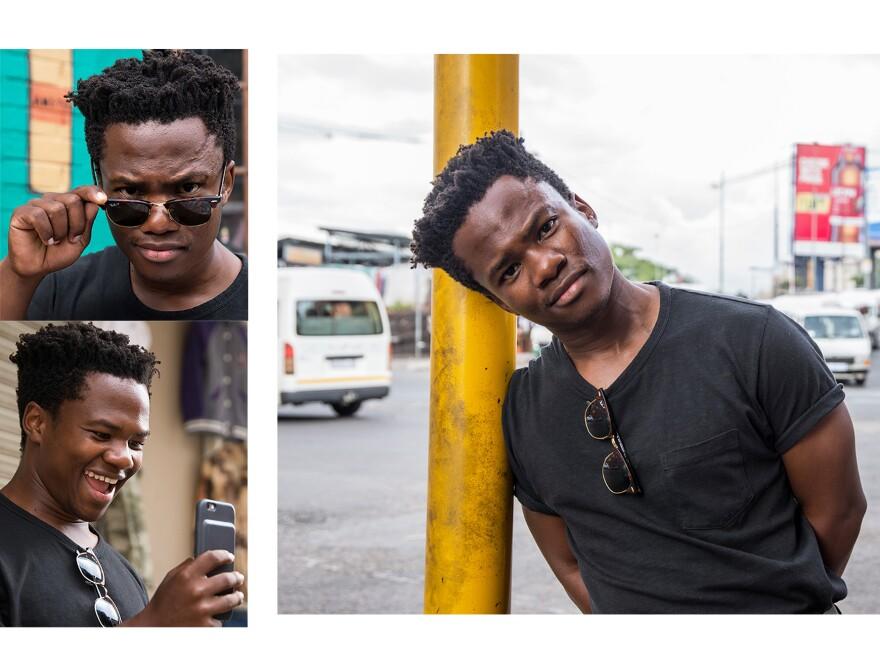 South African comic Loyiso Madinga in Newtown, Johannesburg.