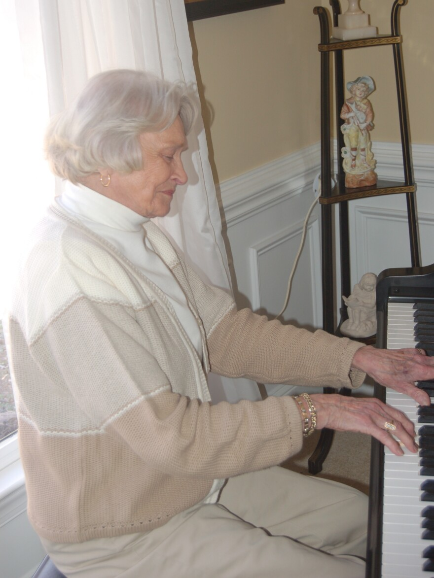 Turning 90 this month, Doris Funderburk Morgan's still got it when it comes to the keys.