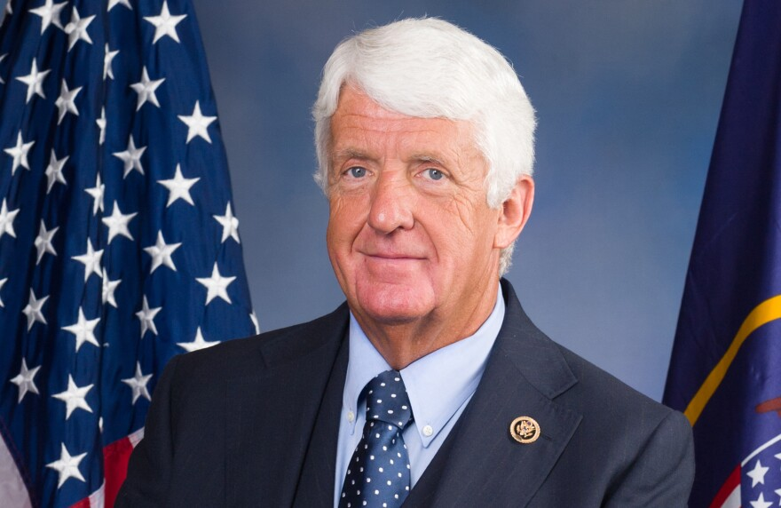 Headshot of Rob Bishop in front of an American flag.
