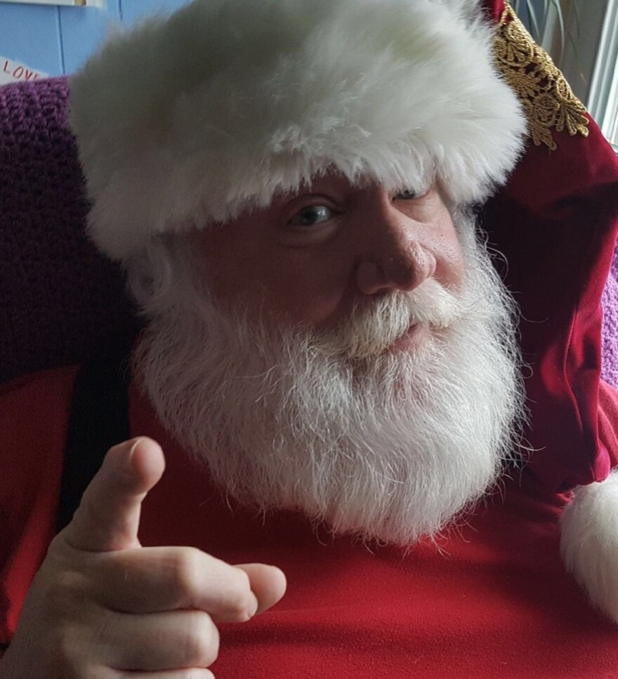 Pat Meehan has been a Santa for 40 years. And, yes, that's his real beard.