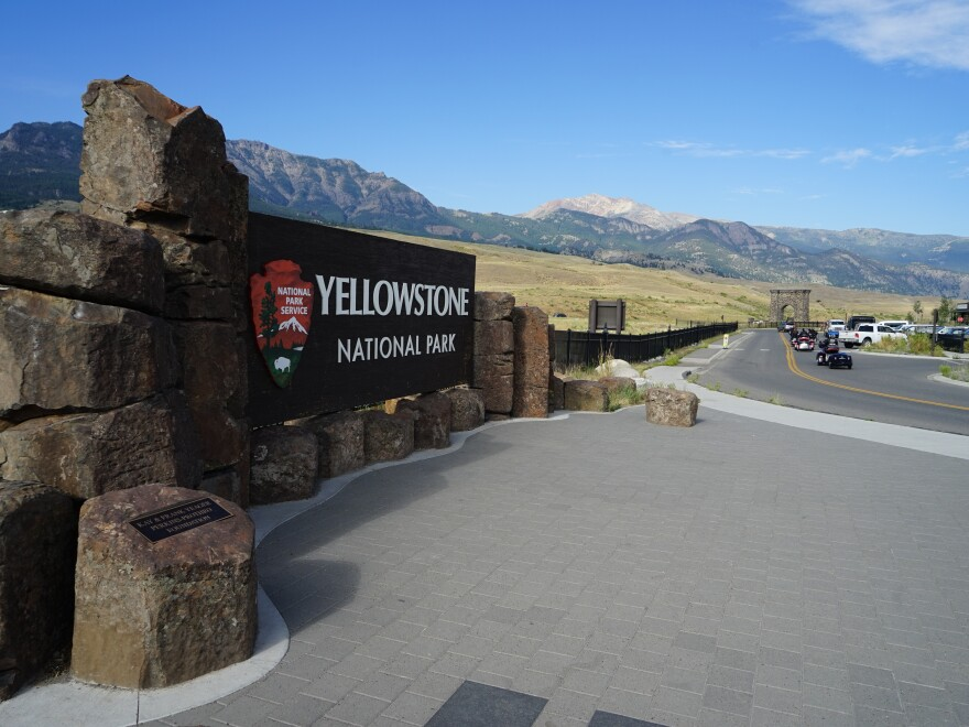 The north entrance of Yellowstone National Park is bustling during the coronavirus pandemic. In July, it saw more car traffic than it did during the same month last year.