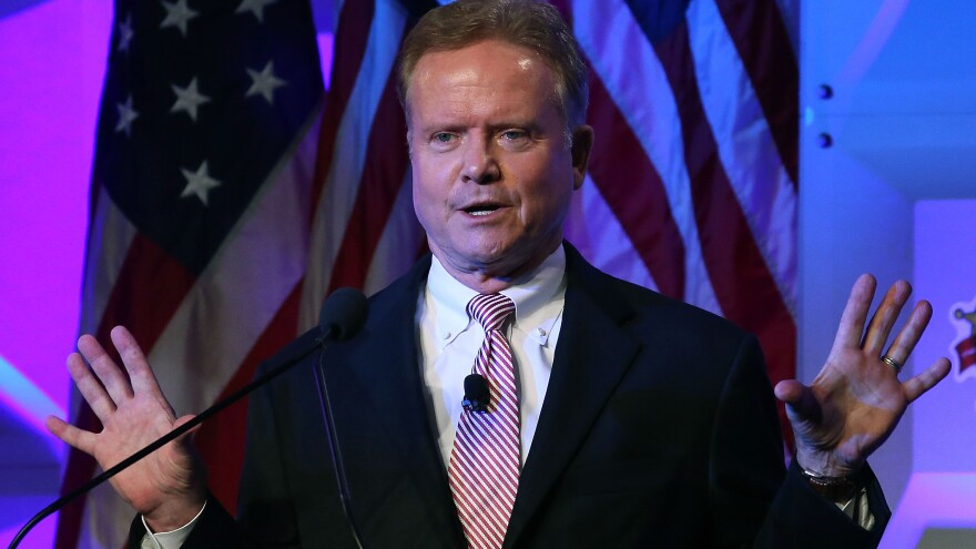 Former Sen. Jim Webb speaks at the National Sheriffs' Association annual conference last month in Baltimore.