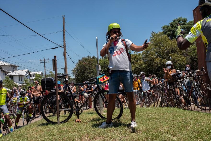 Talib Abdullahi created a Black history social bike ride through Austin.