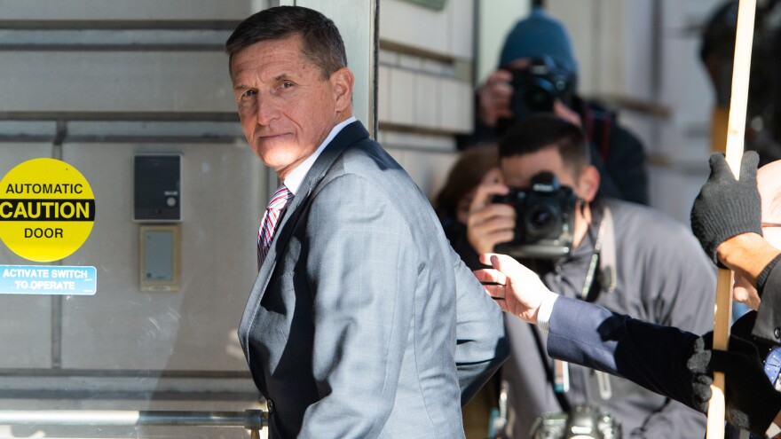 Former Trump national security adviser Michael Flynn, pictured at the U.S. District Court in Washington, D.C., in December 2018, has a new hearing on Friday about the Justice Department's move to drop the case against him.