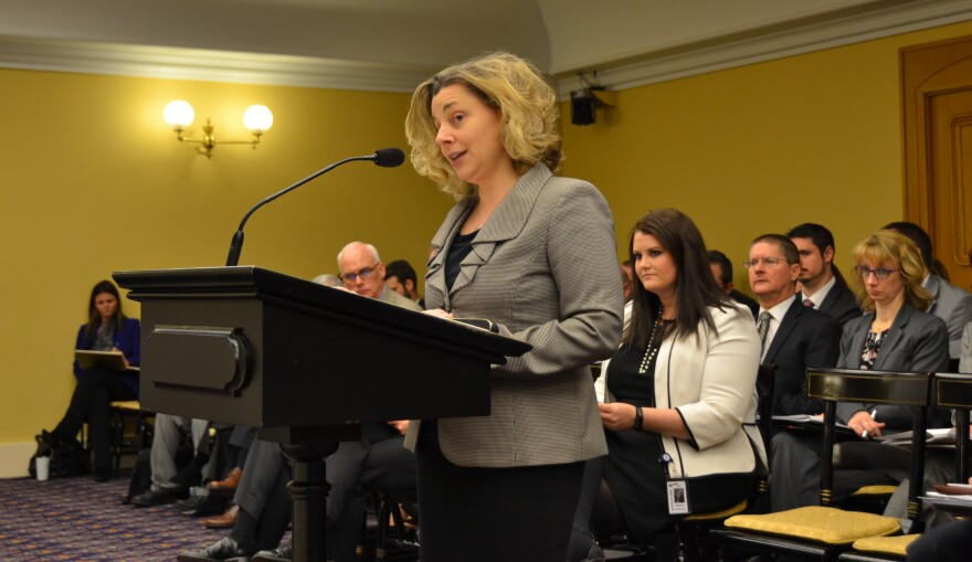 OBM Director Kim Murnieks testified on the state budget before the House Finance Committee in March 2019.