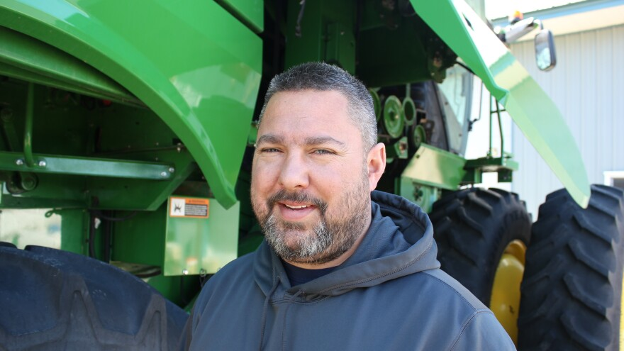 Kyle Schwarting farms near Ceresco, Neb. As a former auto mechanic, he was surprised to learn the software needed to fix tractors isn't available like it is for cars.