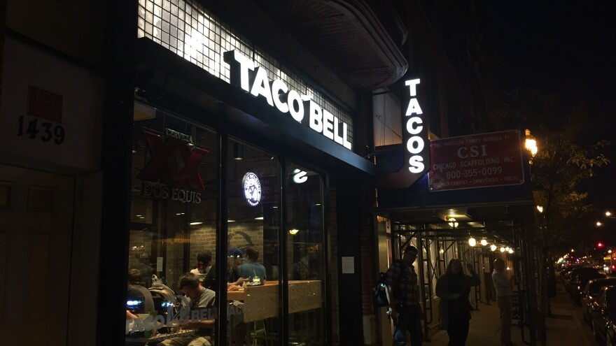 """You'd never know it was a Taco Bell, except for the big sign that says """"Taco Bell."""""""