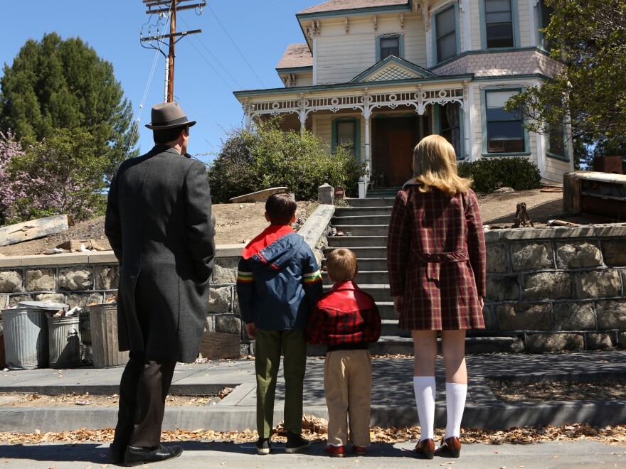 Don (Jon Hamm, left) shows his children his own childhood home at the end of Season 6.