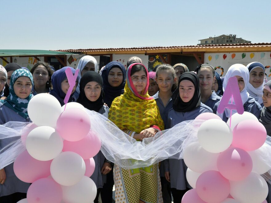 """Malala Yousafzai celebrated her birthday and the opening of a new school with """"brave and inspiring girls of Syria"""" in Lebanon on Sunday."""