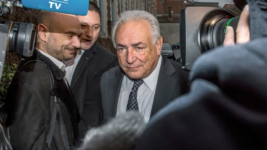 "A prosecutor has asked that former IMF chief Dominique Strauss-Kahn be acquitted in his trial for ""aggravated pimping."" Strauss-Kahn is seen here earlier Tuesday, leaving his hotel to attend a session on the third week of the so-called ""Lille Carlton Hotel Case"" trial."