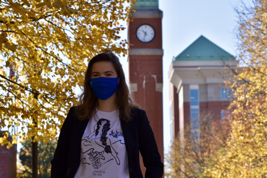 Helena Cooper on St. Louis University's campus in the fall of 2020, her junior year.