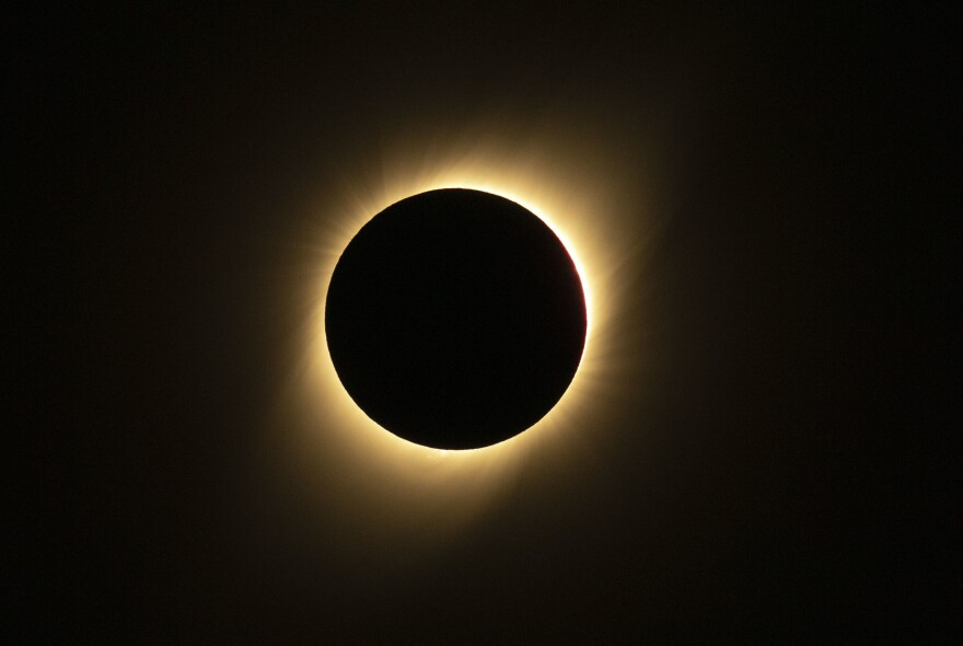Tens of thousands of tourists braced Tuesday for the rare total solar eclipse.