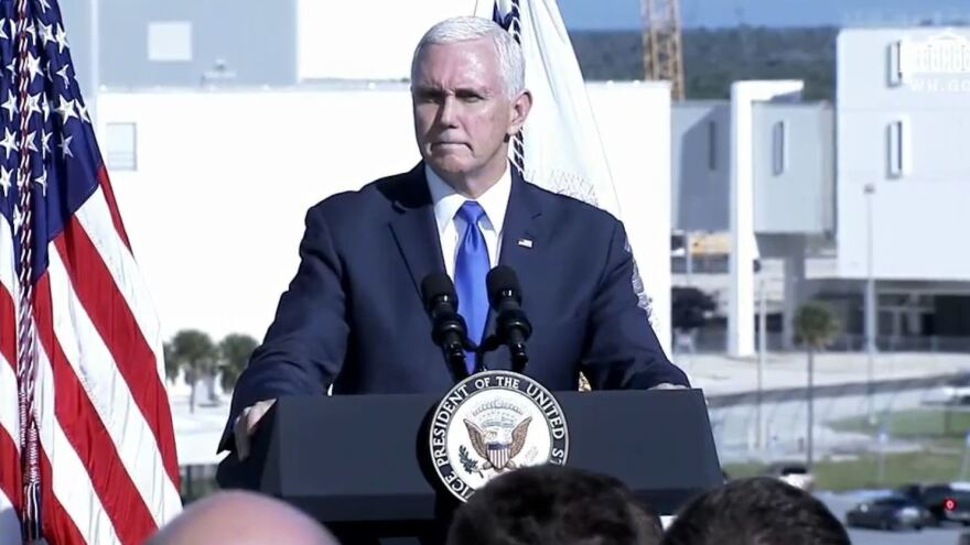 """Vice President Pence announced the revival of the U.S. Space Command, saying Tuesday that it will oversee more than 18,000 military and civilian personnel who currently work """"in space operations for our national security."""""""