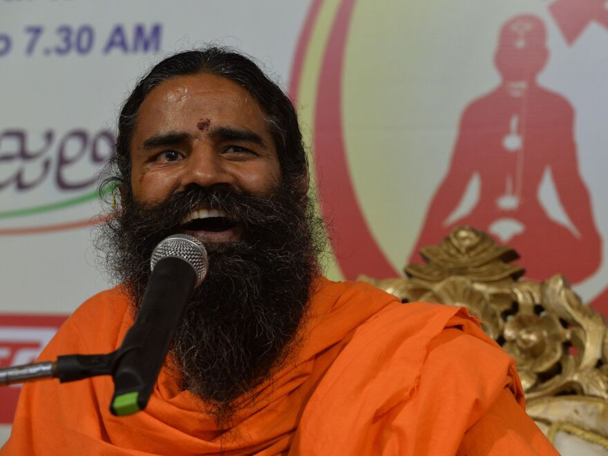 Yoga guru turned tycoon Baba Ramdev has made billions from marketing ayurvedic products.