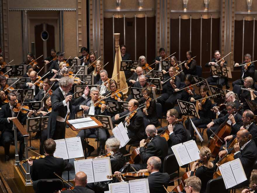 The Cleveland Orchestra, with its music director Franz Welser-Möst, at Severance Hall.