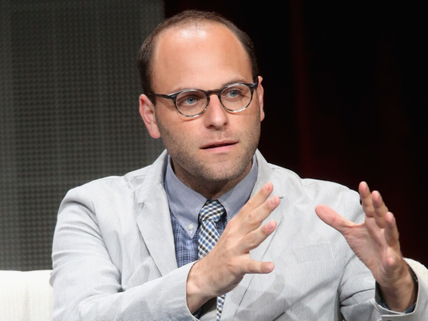 Raphael Bob-Waksberg speaks during the Netflix showrunners panel at the 2015 Summer TCA Tour in Beverly Hills, Calif.