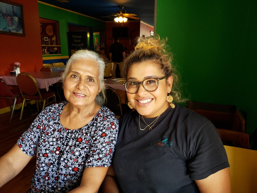 Hilda Balderas, left, and her daughter Rosanna, at their restaurant Pica Taco on Lake McQueeney.