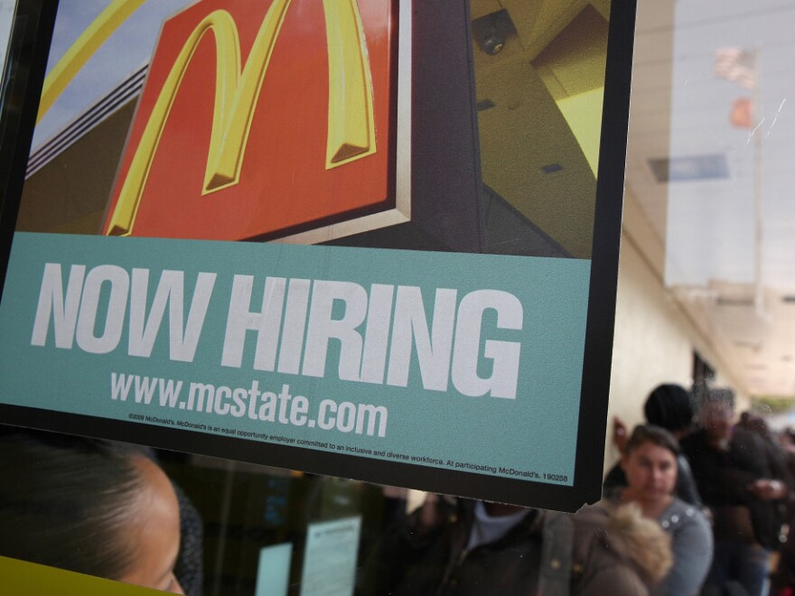 Job seekers lined up at McDonald's restaurants nationwide last week, hoping to fill one of the fast-food chain's 50,000 openings during a one-day nationwide hiring event.