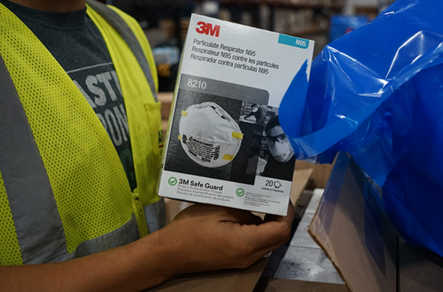 The N95 mask, made by 3M.