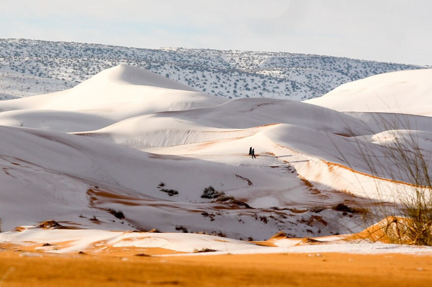 Ain Sefra saw snow last winter, as well, but before 2016, it had been decades since the Algerian town had experienced a major snowfall.