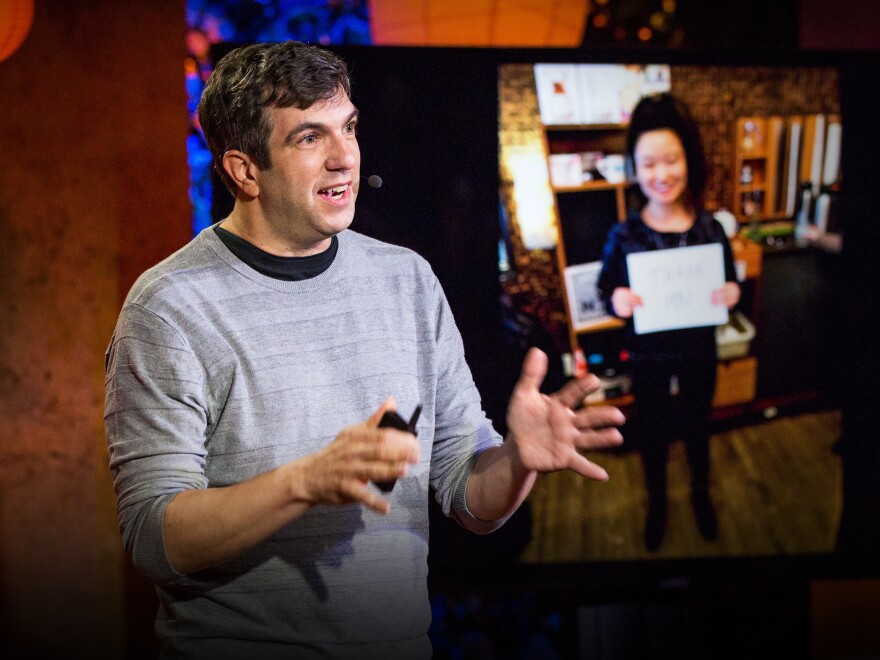 AJ Jacobs speaks at TEDNYC Intersections in partnership with Brightline, June 7, 2018, New York, NY. Photo: Ryan Lash / TED
