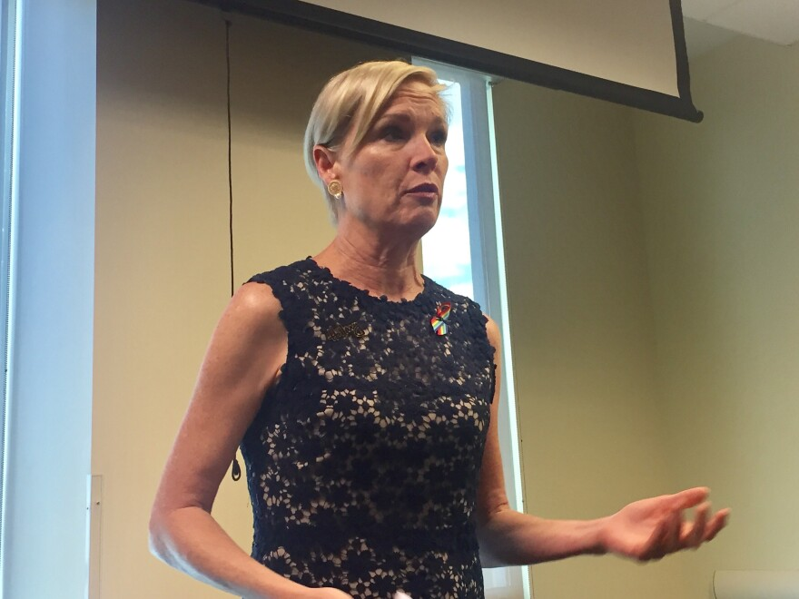 Cecile Richards, president of Planned Parenthood Federation of America and Planned Parenthood Action Fund, campaigned for Democratic presidential nominee Hillary Clinton and attend campus voter registration efforts in Orlando and Tampa.
