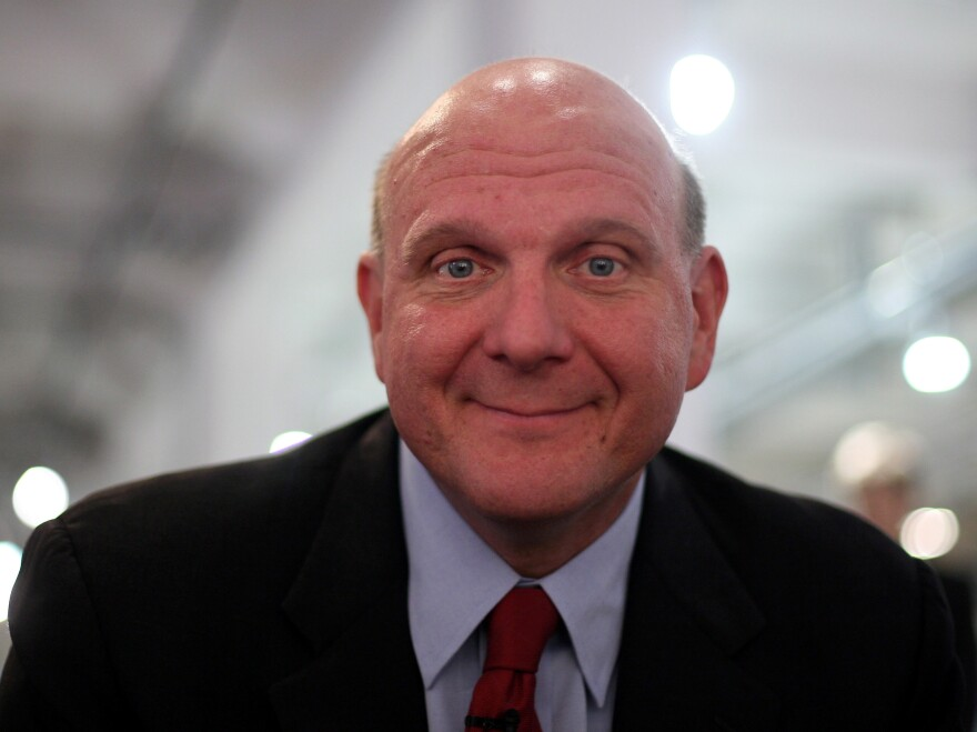 Steve Ballmer looks on during a news conference on Oct. 7, 2009 in Munich, Germany.