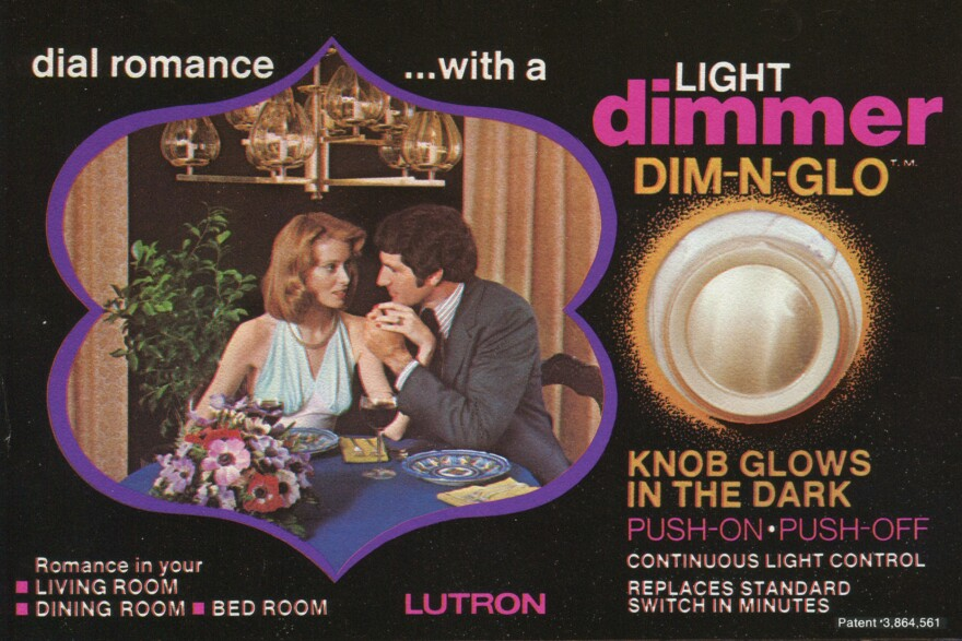An early ad for the dimmer switch. We can neither confirm nor disconfirm whether any double entendres were intended.