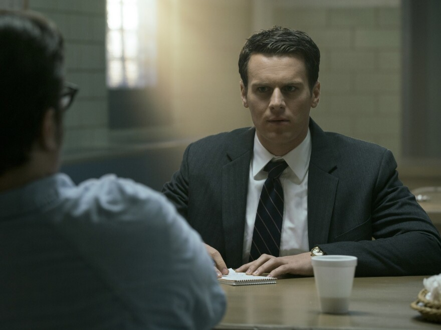 Jonathan Groff plays an FBI agent and criminal profiler in the Netflix series <em>Mindhunter.</em>