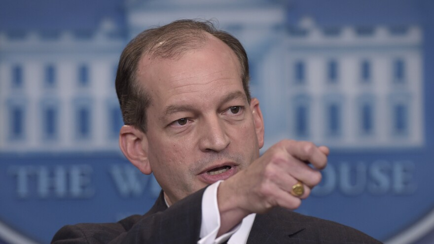 Labor Secretary Alexander Acosta is weighing whether to overhaul an Obama-era overtime rule.