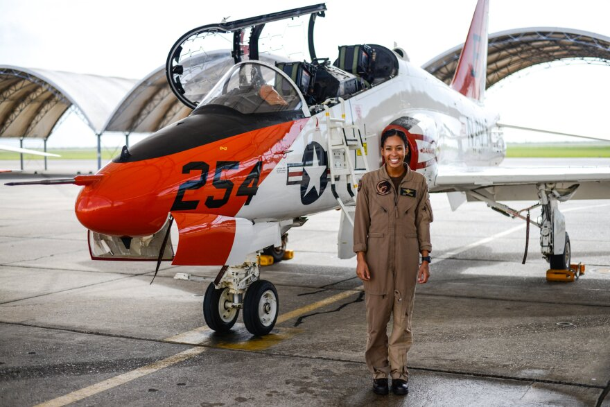 Lt. Madeline Swegle made history when she completed the Tactical Air Strike aviator syllabus: She's the first Black woman to do so.
