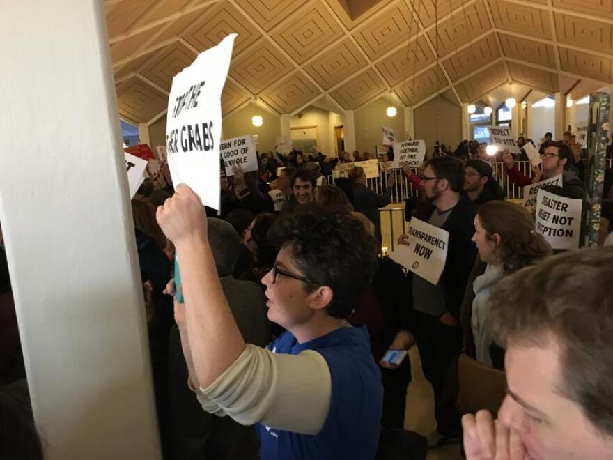 Protests erupted Thursday at the N.C. General Assembly