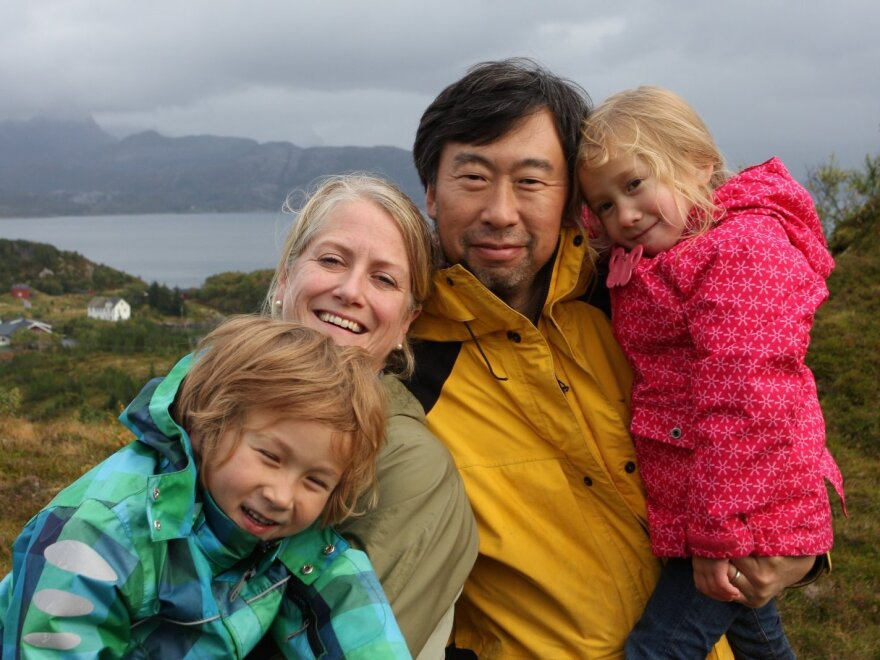 """Marcus, Kristin, Winston and Nora (from left) left their """"Arctic dream"""" in the summer of 2012 to return to Boston."""