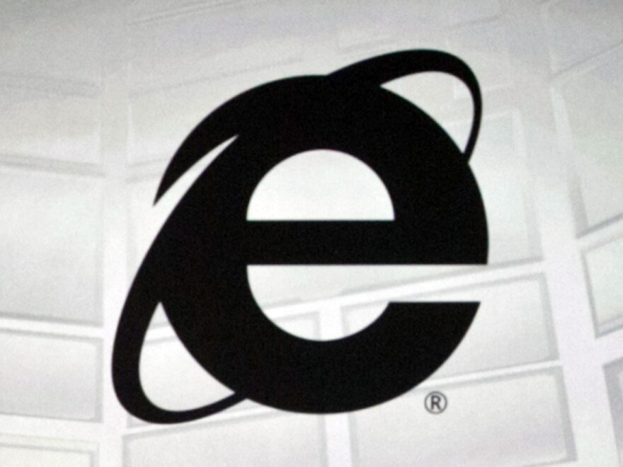 The logo of Microsoft's Internet Explorer, the Web browser due to be phased out in the next version of Windows.