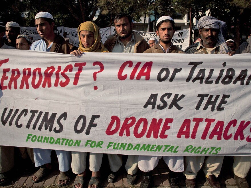 Protests like this one in 2010 in Pakistan in part led President Obama to recalibrate when U.S. officials will order drone strikes, as part of a nuanced policy.