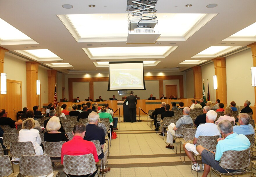 Dan Buck, the CEO of Big Sports Properties LLC, updates the Chesterfield City Council on his POWERplex project on June 5, 2017. A missed deadline means the complex won't be built in the city.