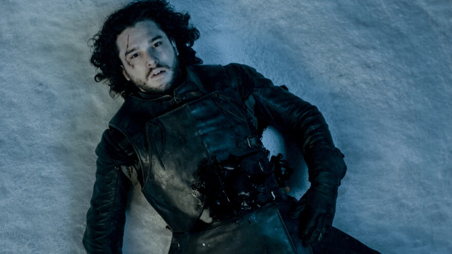 Will Kit Harington's Jon Snow — seen here after a seemingly fatal attack at the end of Season 5 — survive? No one knows.