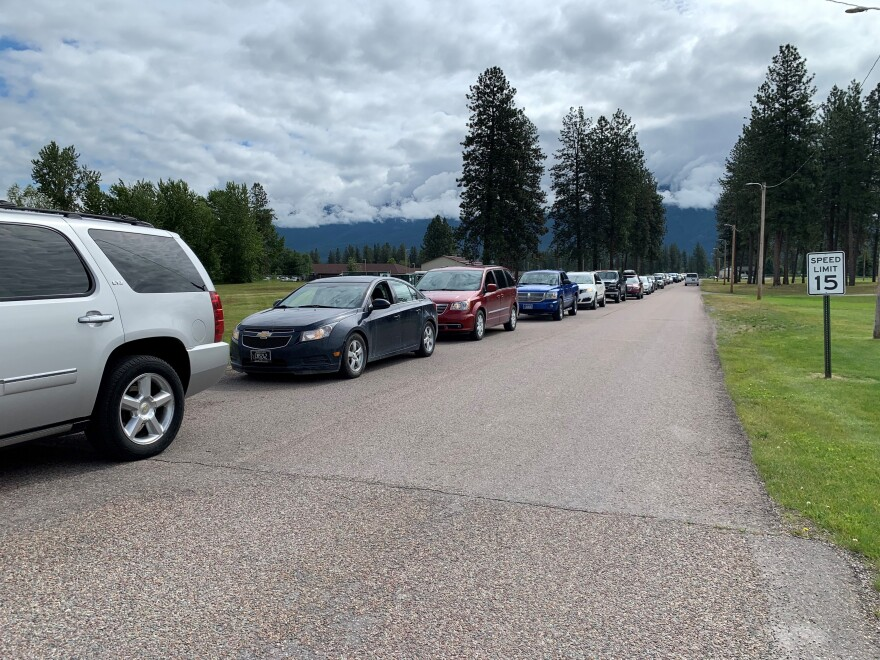 Some waited for more than an hour to get tested at a recent free coronavirus testing event on the Flathead Reservation.
